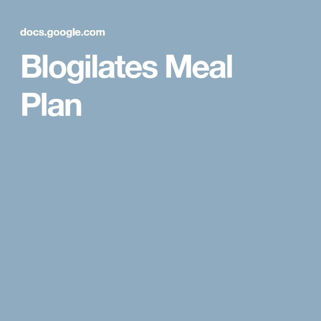 Blogilates Meal Plan