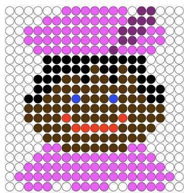 Kralenplank Zwarte Piet