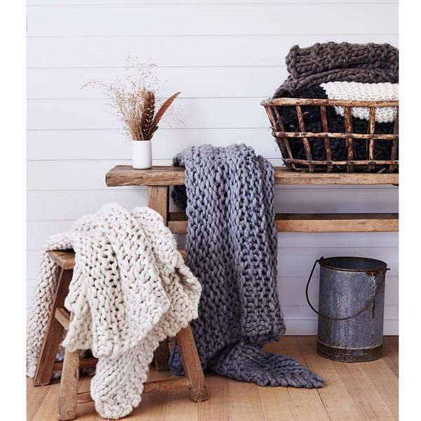 Our delicious chunky knits are soft and luxe layers for your bed or couch. Wrap yourself for winter months with these warm throws styled for modern living.Care