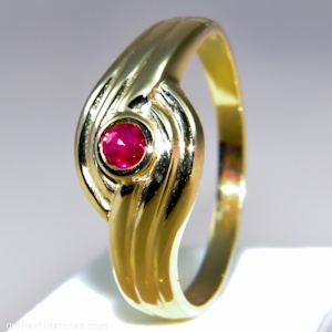925 Sterling Silver Jewellery    Ruby Round Silver Ring    shopping.ebizz@gmail.com