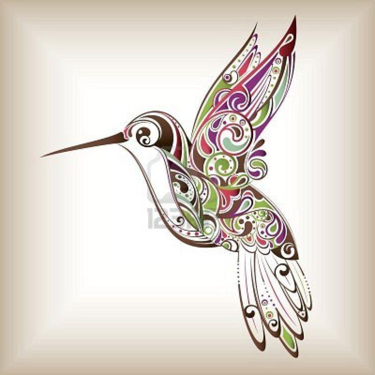Zentangle hummingbird, this is the perfect hummingbird tattoo that ...