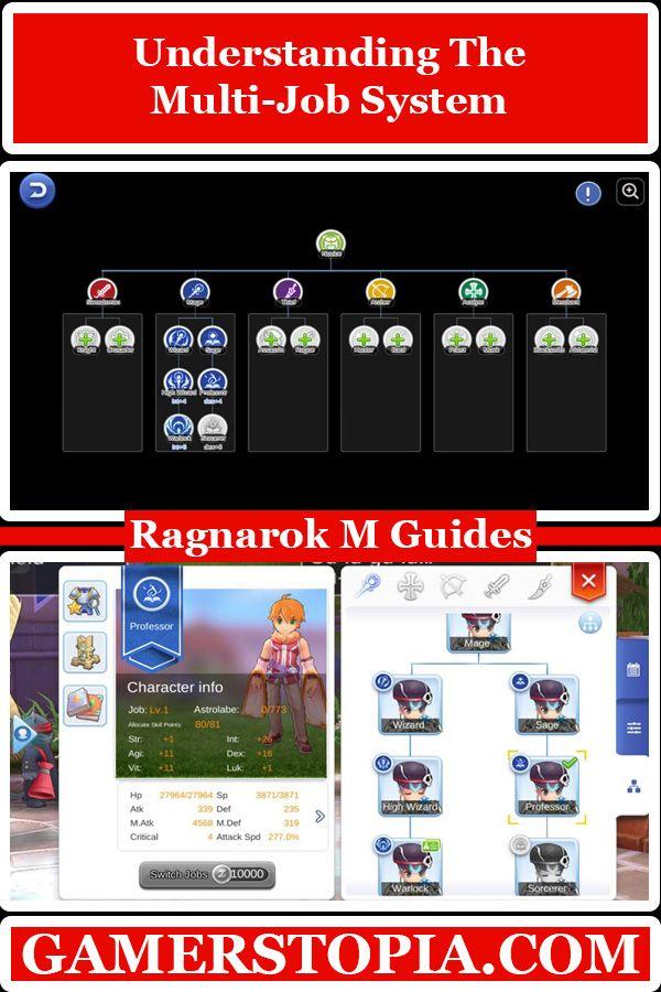 Understanding The Multi Job System In Ragnarok Mobile Eternal Love Gamerstopia Videogame Mmorpg Games Play Mobilega Ragnarok Mobile Job Multi