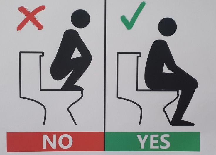 Doha toilet sign