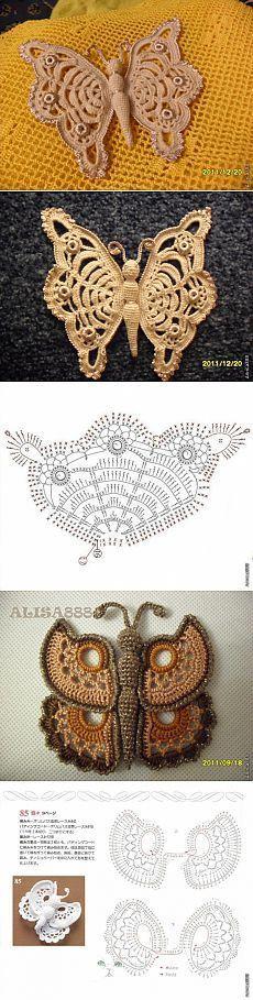 *АЛИСА* МОИ БАБОЧКИ (со схемами).