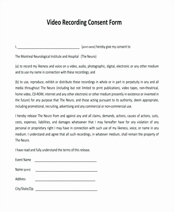 Awesome Media Release Forms Template In 2020 Job Application