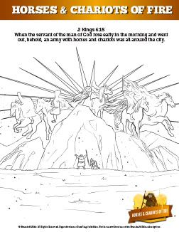 2 Kings 6 Horses And Chariots Of Fire Sunday School Coloring Pages Your Kids Are