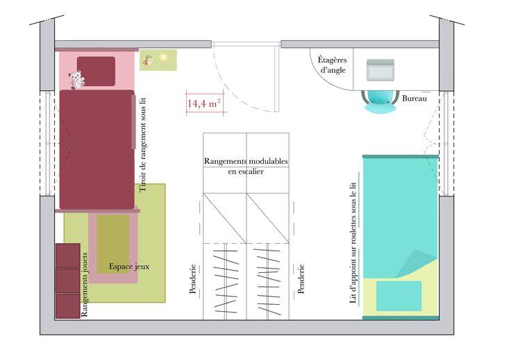 Quel plan pour une chambre du0027enfant ? Dressing room, Room and Bedrooms