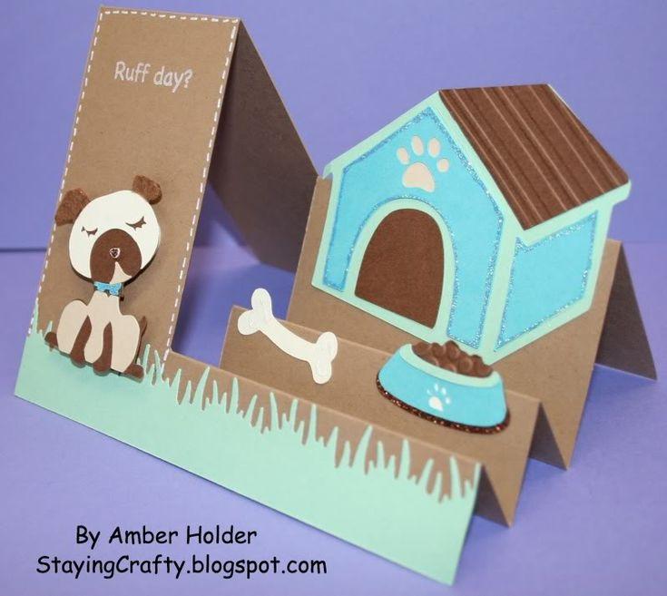 Dog house side step card using 4-legged friends cartridge