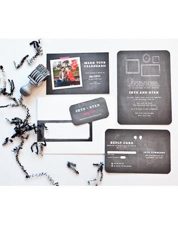 chalkboard wedding suite + matching wedding website