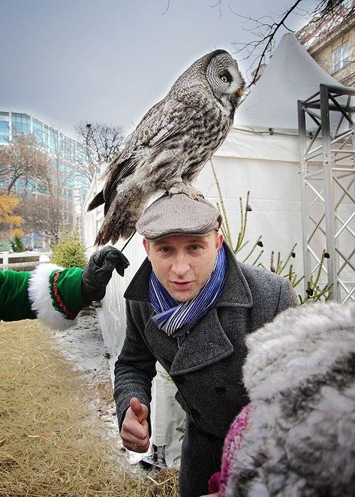 Charity event in december  garden Flaming Restaurant  Warsaw, 43 Mokotowska street  actor: Borys Szyc