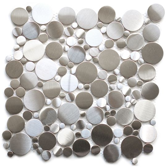 best price to buy eden mosaic tile random circles stainless steel tile online from our exotic home expo website see our other eden mosaic products - Mosaic Tile Restaurant Ideas