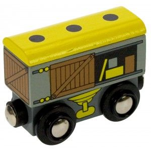 Goods Wagon. Toy wooden train by Bigjigs.  Wooden toys. Imaginative Play. Preschooler. Preschool. Toddler. Fun. Learning. Educational.
