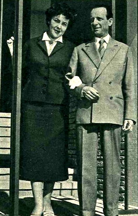 """In 1927, Cesare Andrea Bixio started his collaboration with songwriter Bixio Cherubini (in the picture with his daughter Fiorella in 1955), from the song """"Miniera"""" (""""Mine"""")."""