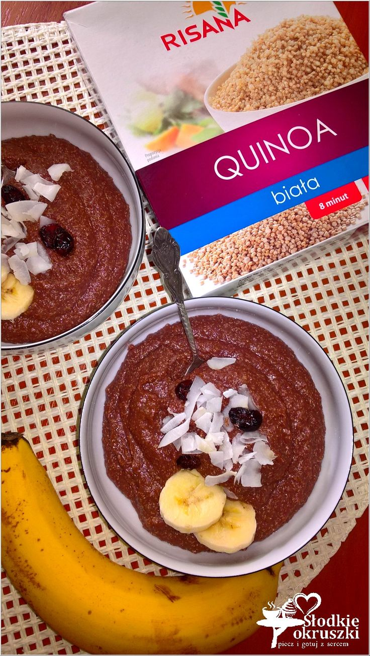 Quinoa pudding. Zdrowy pudding czekoladowy na bazie komory ryżowej.