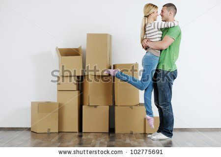 young couple - house