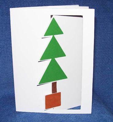 Susan Bluerobot: Árbol adentro hacia fuera tarjeta (pop-up) (además de patrón para el estudio de diseño Cricut)