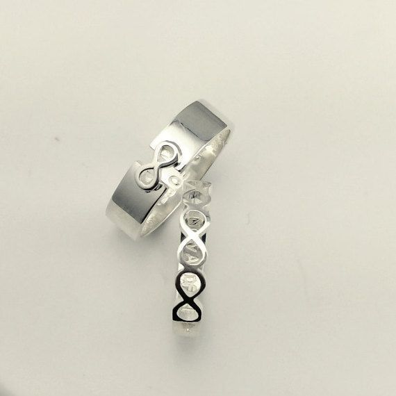 Couples Set Rings Promise Rings For Couples His And by JewelryRB