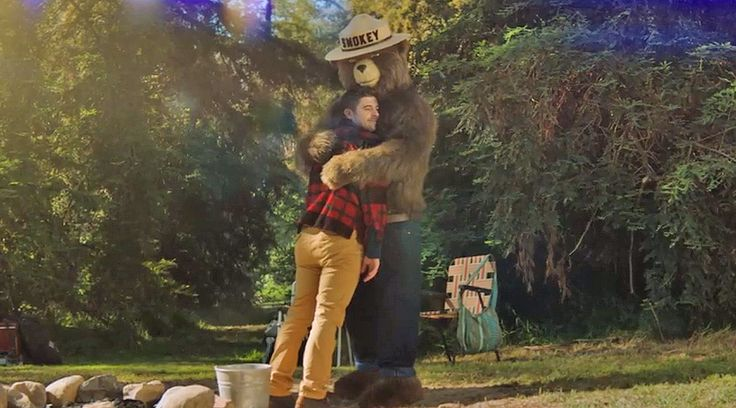 """""""Only you can prevent forest fires.""""   Smokey Bear is back and he's giving out hugs. What do you think of Smokey 2.0? www.outsidetelevi..."""