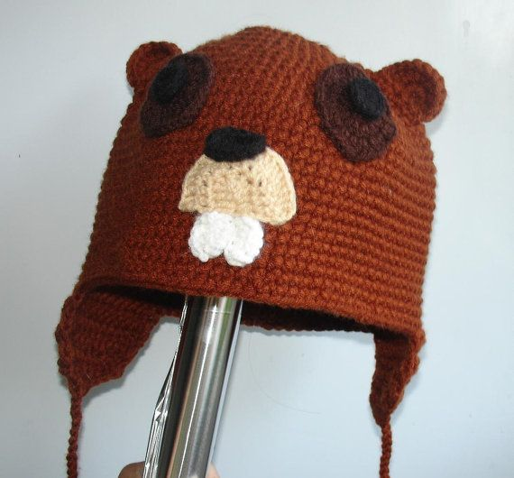 Beaver Hat  Animal Hat  Photo  PROP or GIFT  Baby animal by Ifonka, $20.00