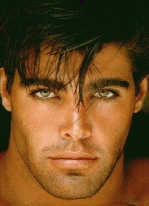 Wow this guy is really attractive. No clue who he is. Don't see many men with green eyes.