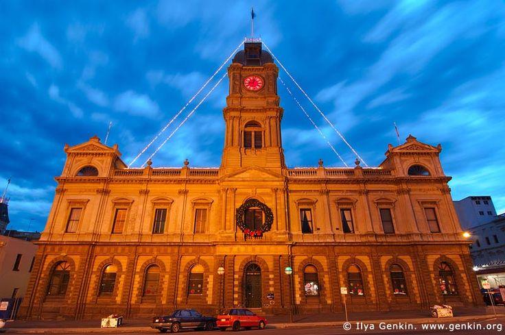 Ballarat Town Hall at Dusk,
