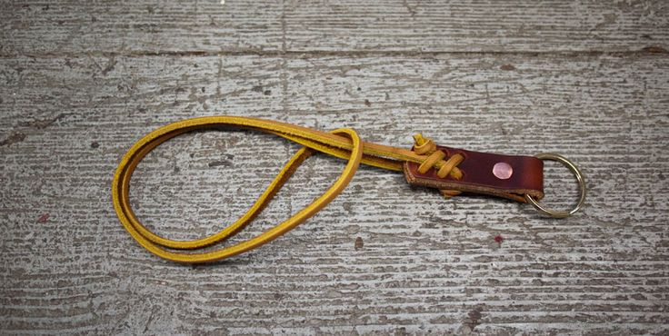 Knotted Leather Keyring DIY| Wood
