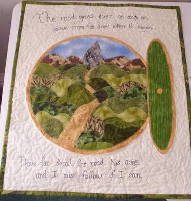 Lord of the Rings Quilt. Looks awesome and I like how they used a quote.