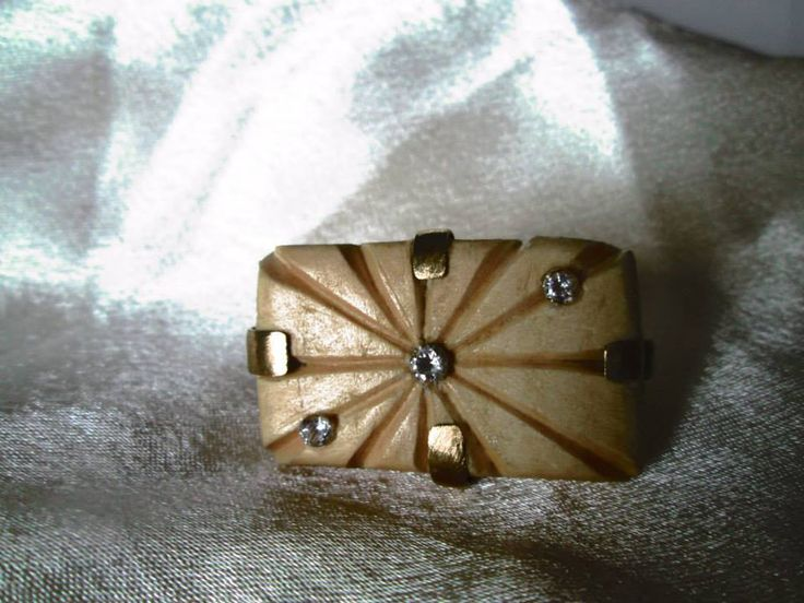 #copper, #wood #ring with #crystals