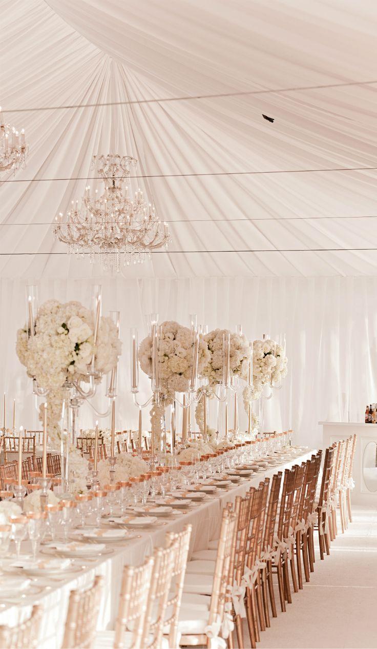 Rose Gold & White | Wedding | Pinterest