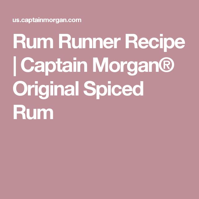 Rum Runner Recipe | Captain Morgan® Original Spiced Rum