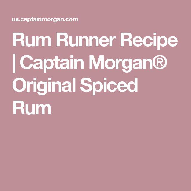... Rum Runner Recipe on Pinterest | Vodka Lemonade Drinks, Rum and