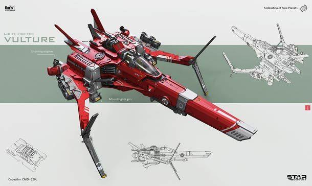 Maelstrom – 25 magnifiques concepts de design de vaisseaux spatiaux par KaranaK