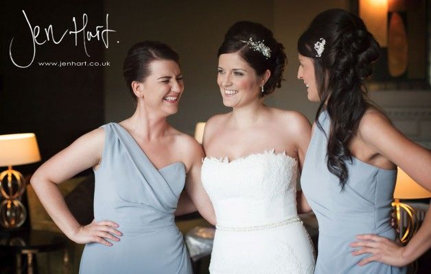 Bride and Bridesmaids. Wedding Photography. Documentary.