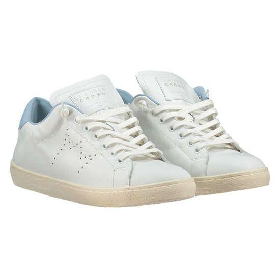 LEATHER CROWN Sneaker aus Leder ► Die Sneaker von LEATHER CROWN sind in Italien aus weichem Leder hergestellt worden. An der Ferse sorgt ein farbiger Einsatz für einen trendigen Akzent, der den Schuh zu einem modischen Allrounder macht.