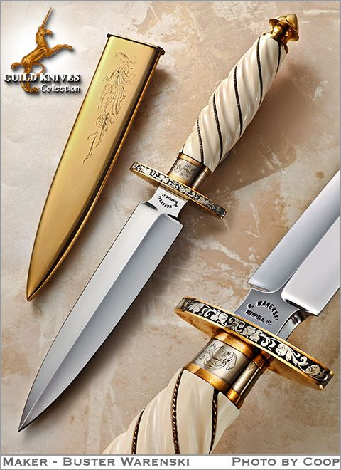 Knife Model Gallery (SOLD - Example Only)/A Golden Warenski Dagger Custom Knife - Guild Knives