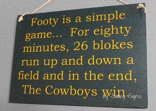 Simple-Game-North-Queensland-Cowboys-Rugby-League-Sign-Bar-Shed-Pub-Jersey-BBQ