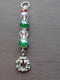 Groene krans met kristal nr 14