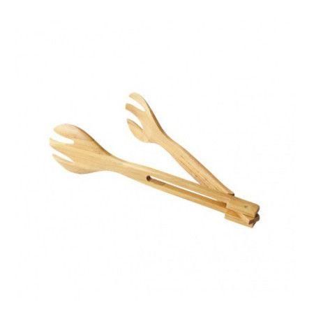 1734-R - Pegador de salada de bambu, dobrável, 30cm - 1 unidade. #pegadordesalada #pegadordesaladapreço #pegadordesaladabambu #pegadordesaladacomprar #utensíliosembambu
