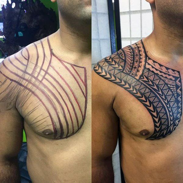 50 Polynesian Chest Tattoo Designs For Men Tribal Ideas 50 Polynesian Chest Tattoo Designs For Men Tribal I In 2020 Tattoo Designs Men Chest Tattoo Tribal Ideas