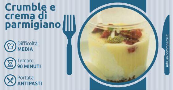 Crumble e crema di parmigiano