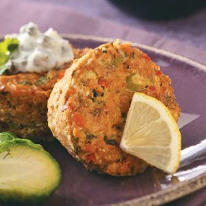 Baked Salmon Cakes Recipe from Taste of Home -- shared by Nikki Haddad of Germantown, Maryland