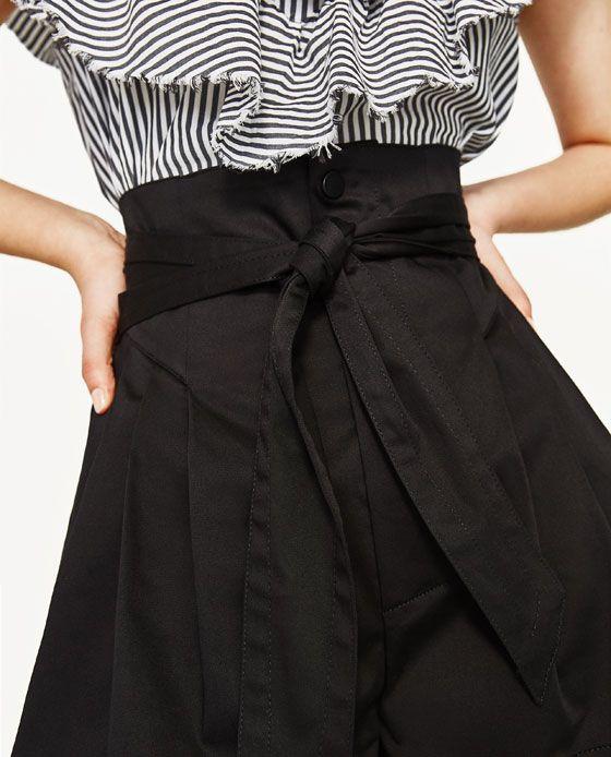 Image 5 of POPLIN BERMUDA SHORTS WITH BOW from Zara