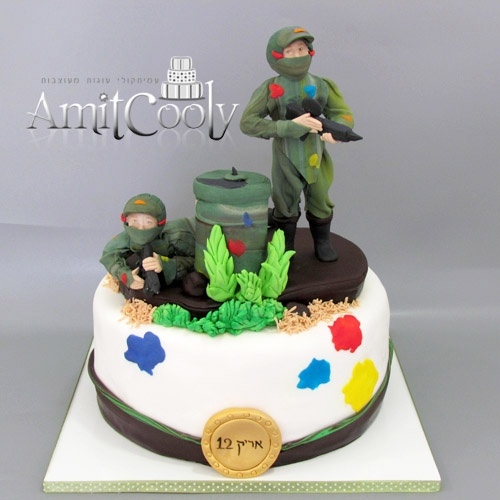 Images Of Paintball Cakes