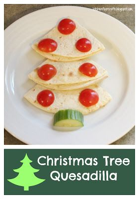 Kitchen Floor Crafts: Christmas Tree Quesadilla