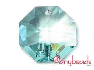 Antique Green Swarovski Strass Crystal 8115 2 Holes Octagon Pendant 14mm  #green #Swarovski #strass #crystal #8115 #pendant #jewelrysupplies #anybeads