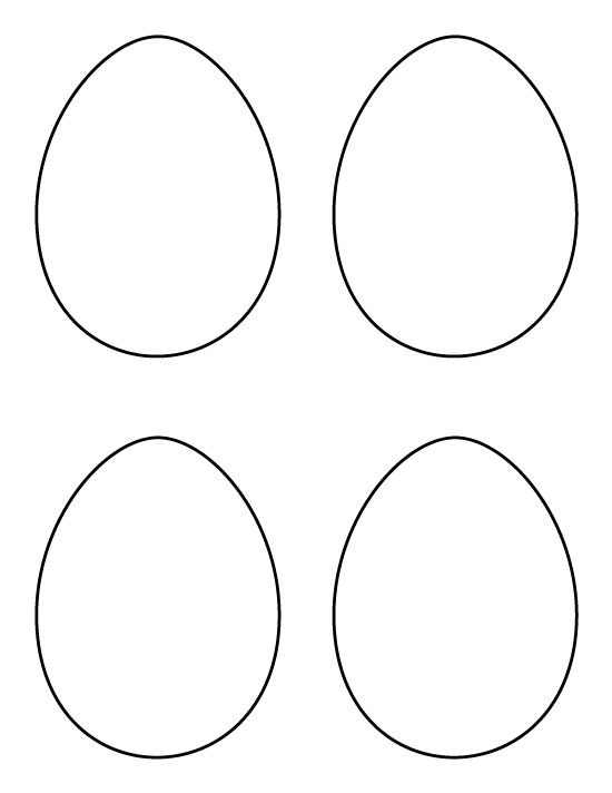 printable medium egg pattern use the pattern for crafts