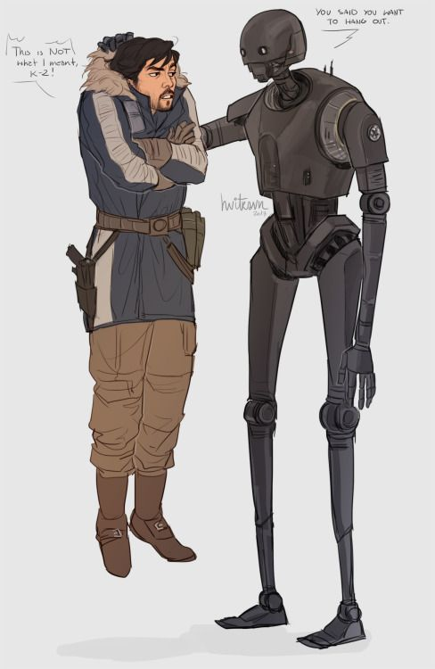 Anonymous said: I'd love to see some Cassian hanging with K2 if that's alright. Anonymous said: Please draw cassian and k-2so!!!