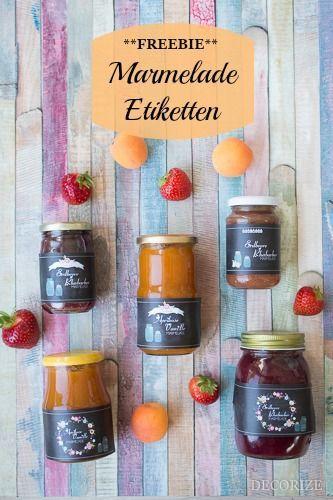 107 besten etiketten bilder auf pinterest ausdrucken kochbuch und kostenlose druckvorlagen - Marmelade einkochen glaser ...