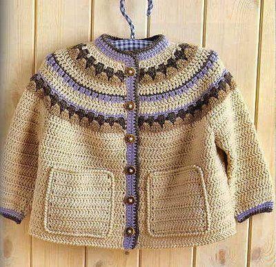 BethSteiner: Casaquinho para criança em crochê