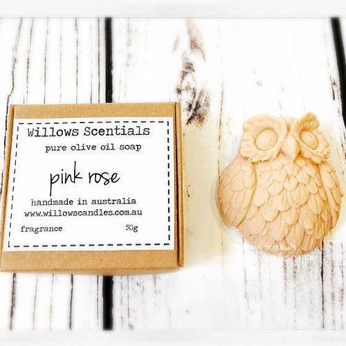 Pink Rose Olive Oil Soap  #pinkrose #rosesoap #rose #oliveoilsoap #soap #owlsoap #vegan #vegansoap #palmfree